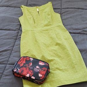Lime Green Tahari Sleeveless Dress
